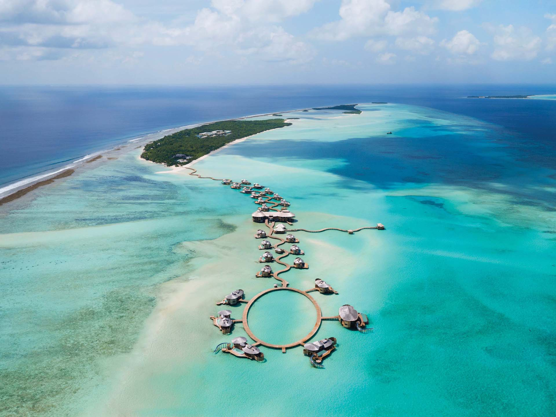Aerial View of Soneva Jani Maldives